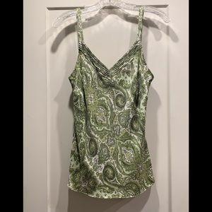 Ann Taylor silk tank. Beautiful paisley pattern.